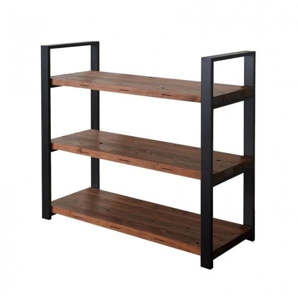DIY FACTORY Wooden Shelf 天板:ブラウン / 脚:ブラック W900 D400 H1043 1セット