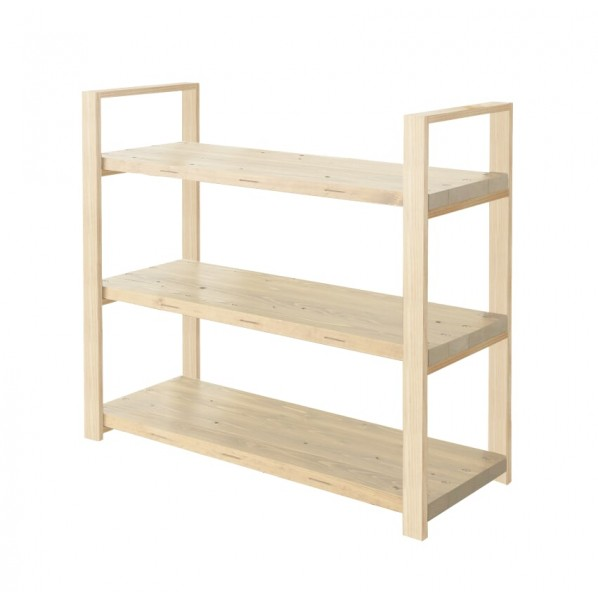 DIY FACTORY Wooden Shelf 天板:無塗装 / 脚:無塗装 W700 D400 H1043 1セット