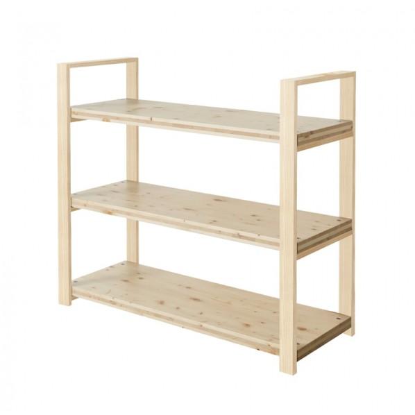 DIY FACTORY Wooden Shelf 天板:無塗装 / 脚:無塗装 W1100 D400 H1043 1セット