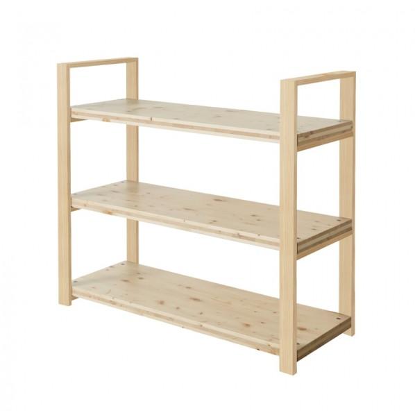 DIY FACTORY Wooden Shelf 天板:無塗装 / 脚:クリア塗装 W1100 D400 H1043 1セット