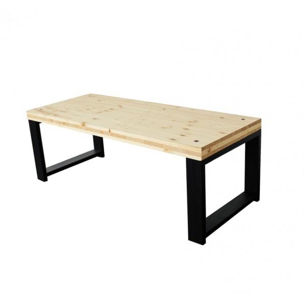 DIY FACTORY LowTable 天板:無塗装 / 脚:ブラック W990 D400 H350 EKLT1A41035 1セット