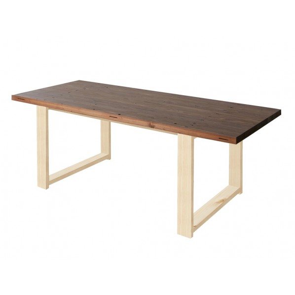 DIY FACTORY Conference Table 天板:ブラウン / 脚:無塗装 W1400 D800 H700 1セット