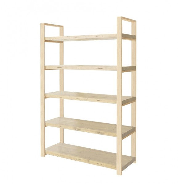 DIY FACTORY Wooden Shelf High 天板:無塗装 / 脚:無塗装 W1200 D400 H1813 EKSS1A10418 1セット