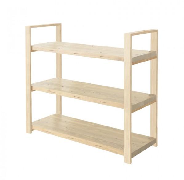DIY FACTORY Wooden Shelf Middle 天板:無塗装 / 脚:無塗装 W1200 D400 H1043 EKSS1A10410 1セット