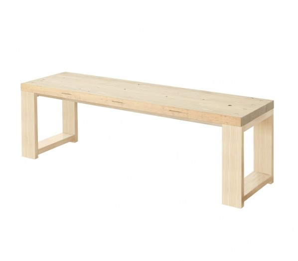 DIY FACTORY Bench 天板:無塗装 / 脚:無塗装 W1400 D400 H430 EKBS1S11440 1セット
