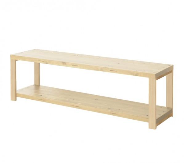 DIY FACTORY AV Board 天板:無塗装 / 脚:無塗装 W1600 D400 H467 EKAS1A11640 1セット