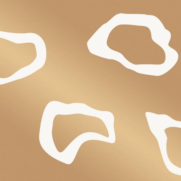 テンペーパー TEMPAPER 貼ってはがせる壁紙シール プールハウス ゴールド 幅:68.5cm 長さ:8.2m CR446 1本