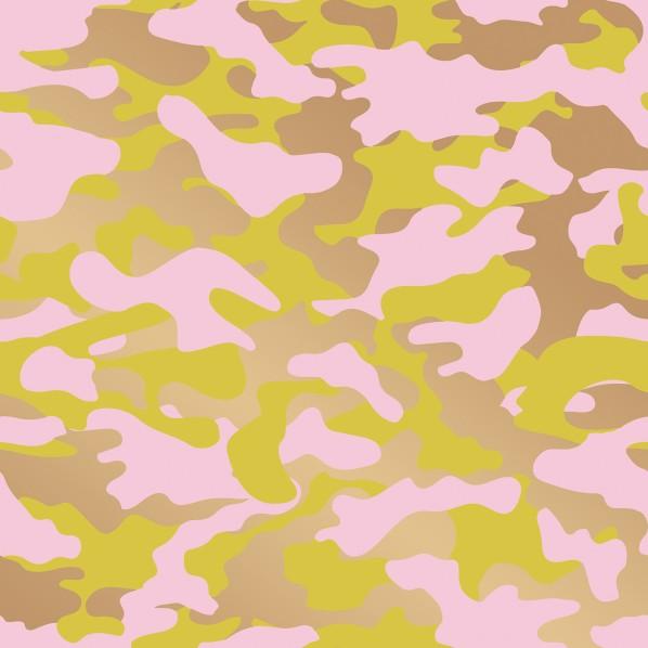 テンペーパー TEMPAPER 貼ってはがせる壁紙シール グロマ ピンク、レモン&ゴールド 幅:68.5cm 長さ:8.2m CR460 1本