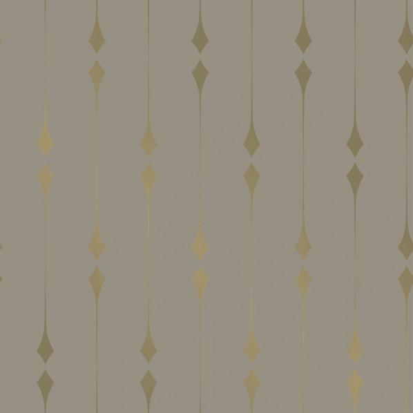 テンペーパー TEMPAPER 貼ってはがせる壁紙シール シマー トープ&メタリック ゴールド 幅:52cm 長さ:10m IM467 1本