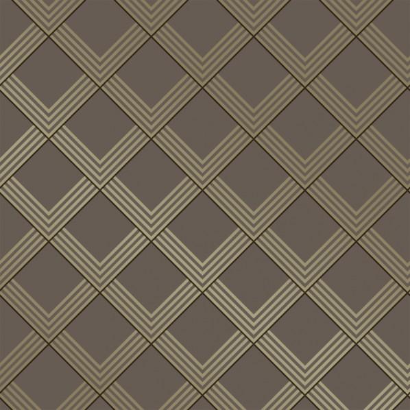 テンペーパー TEMPAPER 貼ってはがせる壁紙シール レイヤード ラブ ブロンズ&メタリックシャンパン 幅:52cm 長さ:10m IM469 1本