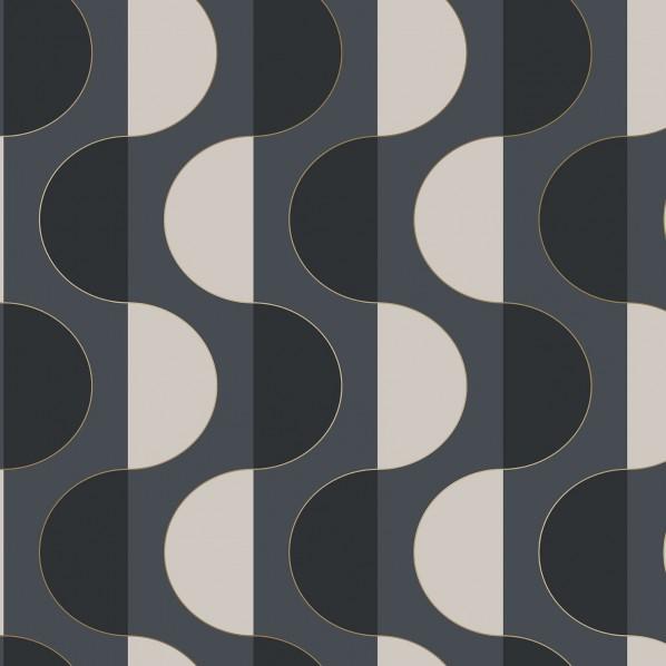 テンペーパー TEMPAPER 貼ってはがせる壁紙シール ルナ ミッドナイト 幅:68.5cm 長さ:8.2m LU549 1本