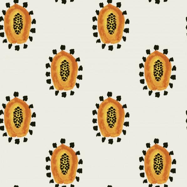 テンペーパー TEMPAPER 貼ってはがせる壁紙シール マーマス パパイヤ パパイヤ オレンジ 幅:52cm 長さ:10m MA485 1本