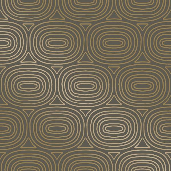 テンペーパー TEMPAPER 貼ってはがせる壁紙シール オーヴァルス ゴールド 幅:52cm 長さ:10m OV479 1本