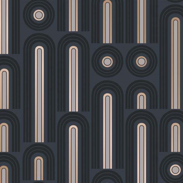 テンペーパー TEMPAPER 貼ってはがせる壁紙シール ウェイヴ ポップ グラファイト 幅:68.5cm 長さ:8.2m WA480 1本