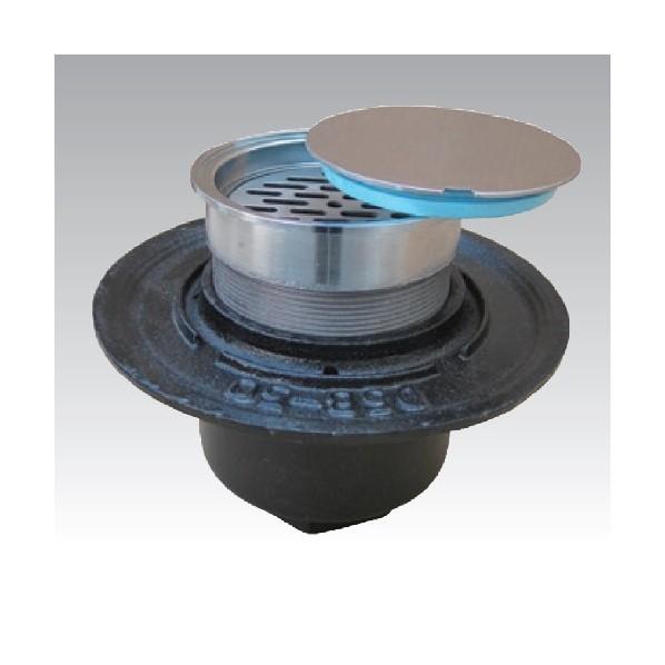 アウス 防水用床排水トラップ掃除口(内部目皿付) D-5B-3CO 1個