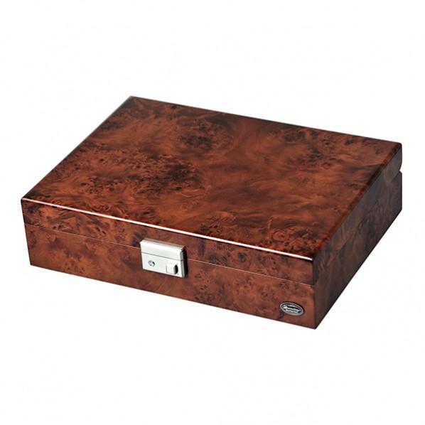 エスプリマ 高級木製時計8本収納ケース ダークブラウン&濃木目 横31.2cm・奥行22.6cm・高8cm LU51010RD 1個