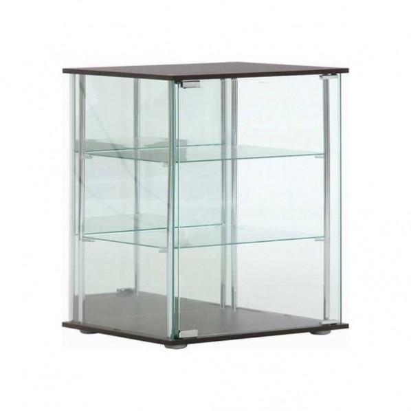 フジボウエキ ガラスコレクションケース3段 ブラウン アタッシュケース 96049 TMG-G02 1台