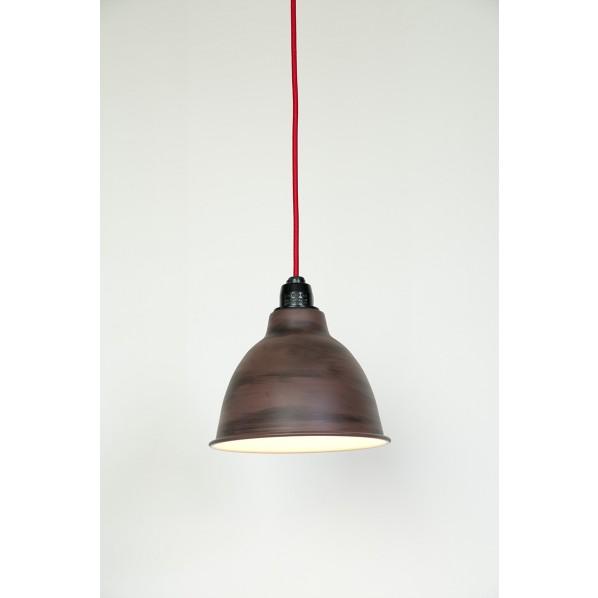 シバタ照明 レトロモダンペンダントライト セードカラー:赤サビ コードカラー:レッド 幅:210 / 高:200 / 全長:1240mm CSP-138RC-R 1台