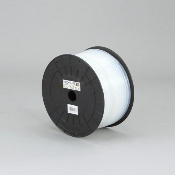 三洋化成 シリコンチューブ プチドラム巻 ホワイト 7mm×10mm×20m ST-7 1個