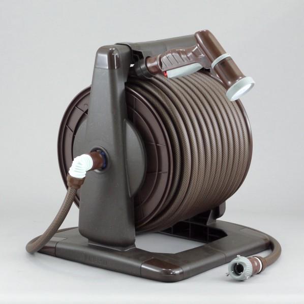 三洋化成 アーバンブラウンリール 本体:ブラウンメタリックドラム:ブラウンホース:ブラック×ブラウン 37.6×43×36cm URB4-Q507R 1個