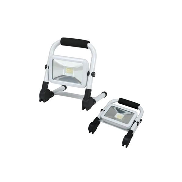 デンサン LED投光器(充電タイプ) 通常使用時・185×155×210mm折りたたみ時・185×225×50mm PDSB-05010S 1個