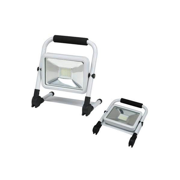 デンサン LED投光器(充電タイプ) 通常使用時・230×155×265mm折りたたみ時・230×285×55mm PDSB-05020S 1個