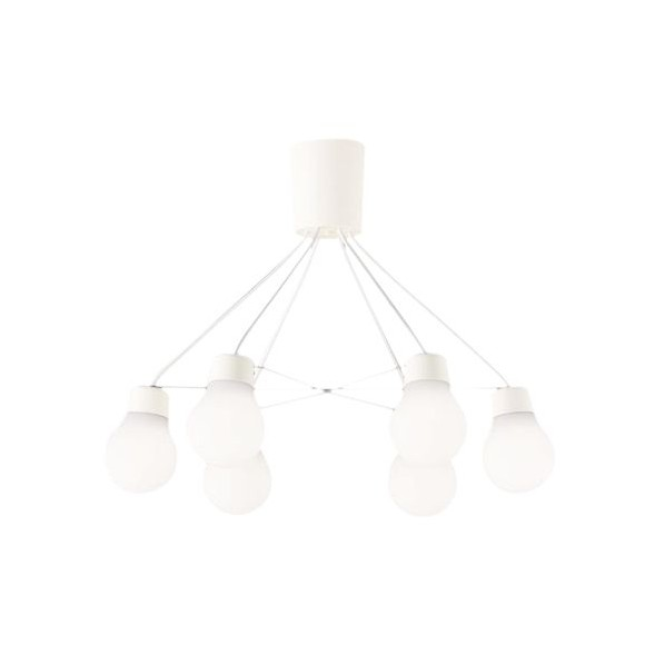 パナソニック LEDシャンデリア60形X6温白色 高さ×幅×奥行(cm):14.8×32×63.3 LGB57629WCE1 1台