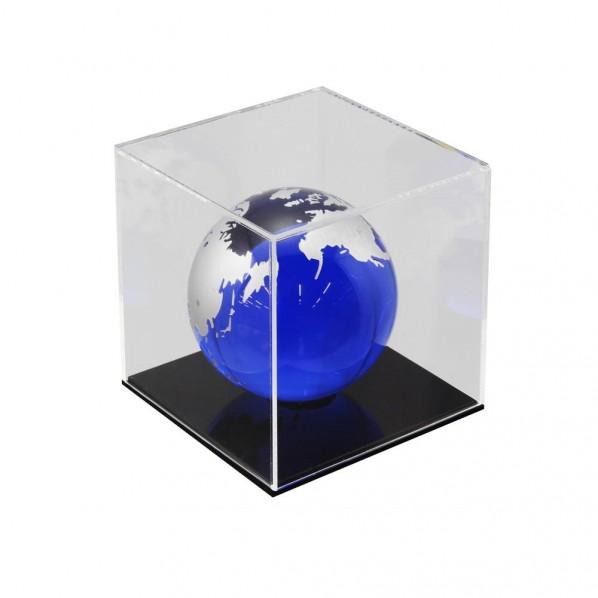 ハイロジック 透明アクリルケース 6面(底板黒) 100×100×600mm Hexb116 1個
