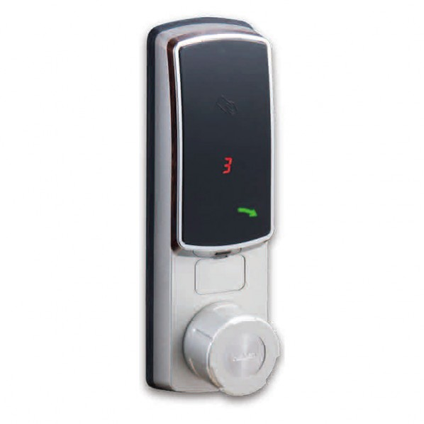 ケイデン IC取替錠 Fe-Lock SE マルチタイプ シングルバッテリータイプ 対応錠前(MIWA/LA) 扉厚32~40mm用 シルバー シリンダー錠 1個