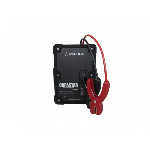 VECRUZ ジャンプスターター CAPASTAR 12V専用 450A ブラック 本体:W160×L225×H60mm VCS-450 1台