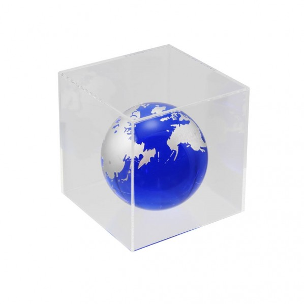 ハイロジック 透明アクリルケース 5面(底板なし) 100×300×600mm Pen136 1個