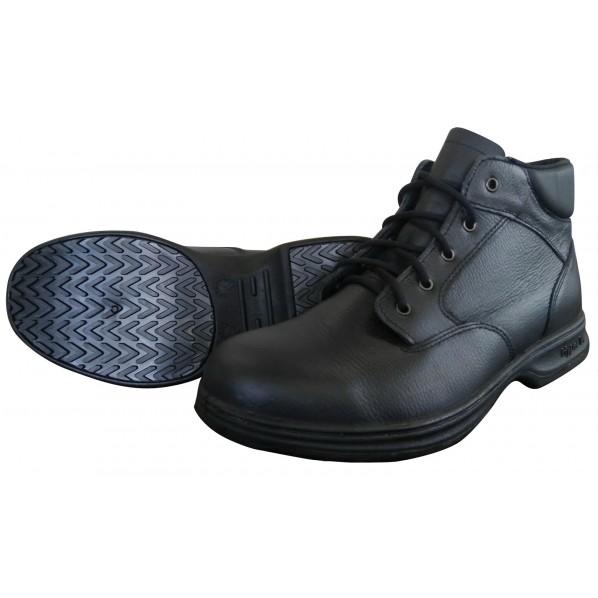 日進ゴム ハイパーV#9100 JIS規格認定安全靴(ヒモ) ミドルカット 黒 26.5 #9100 1足
