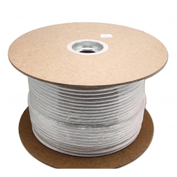三友産業 綿金剛打ロープ 白 長さ:300m太さ:8mm HR-580 1個