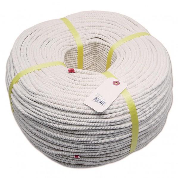 三友産業 綿金剛打ロープ 白 長さ:400m太さ:6mm HR-582 1個