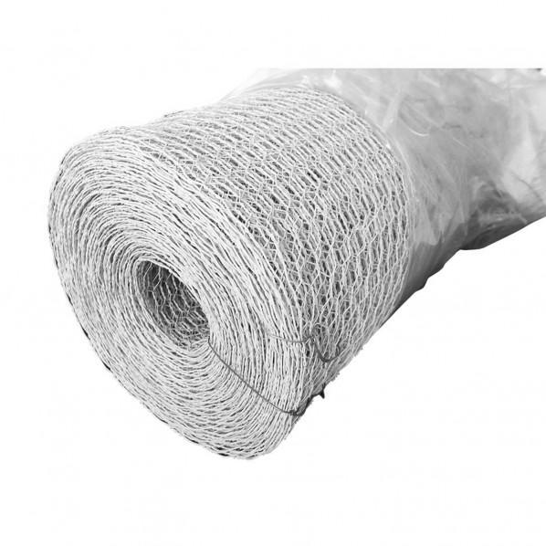 和気産業 金網カラ-亀甲 ホワイト 番手×網目:#23×10mm幅:300mm長さ:25m - 1個