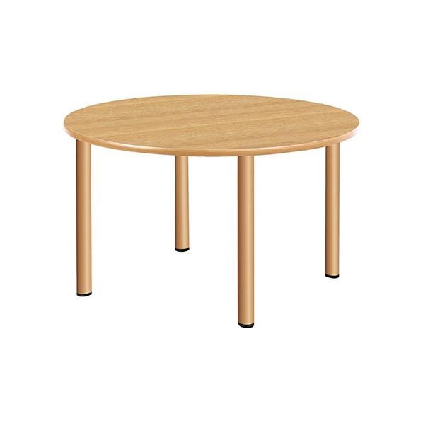 タック販売 施設向テーブル ナチュラルオーク ガーデンテーブル・チェア UFT-4S12R-NK 1台