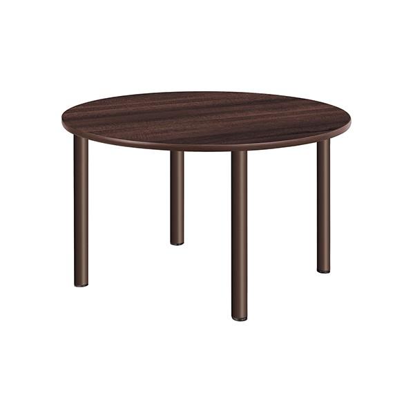 タック販売 施設向テーブル ミディアムウォールナット ガーデンテーブル・チェア UFT-4S12R-MW 1台