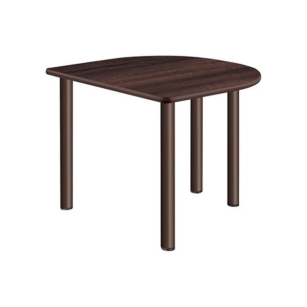 タック販売 施設向テーブル ミディアムウォールナット ガーデンテーブル・チェア UFT-4S9080H-MW 1台