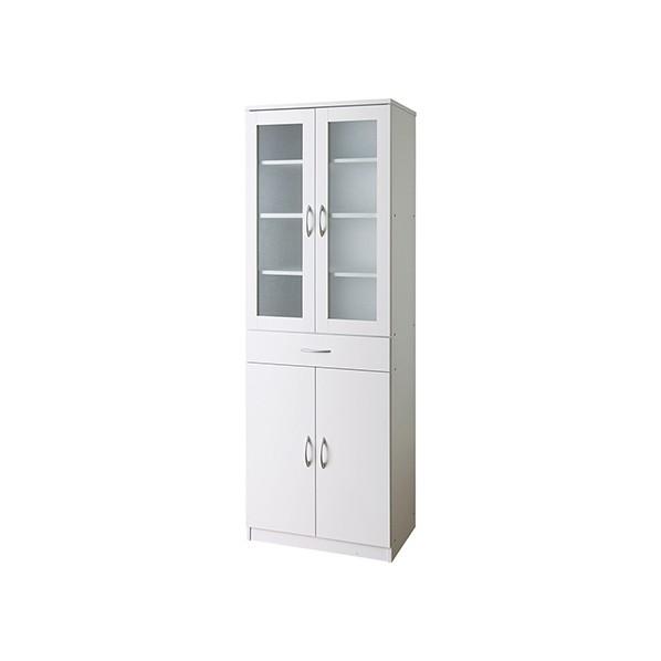 タック販売 食器棚(キッチンキャビネット) ホワイト ガーデンテーブル・チェア SK1860-WH 1台