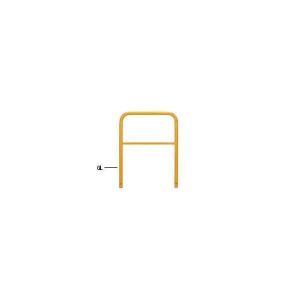 <title>期間限定送料無料 帝金バリカー 横型 φ42.7 スチール製 固定式 横桟付 黄色 W70 H65 80-A3 1本</title>