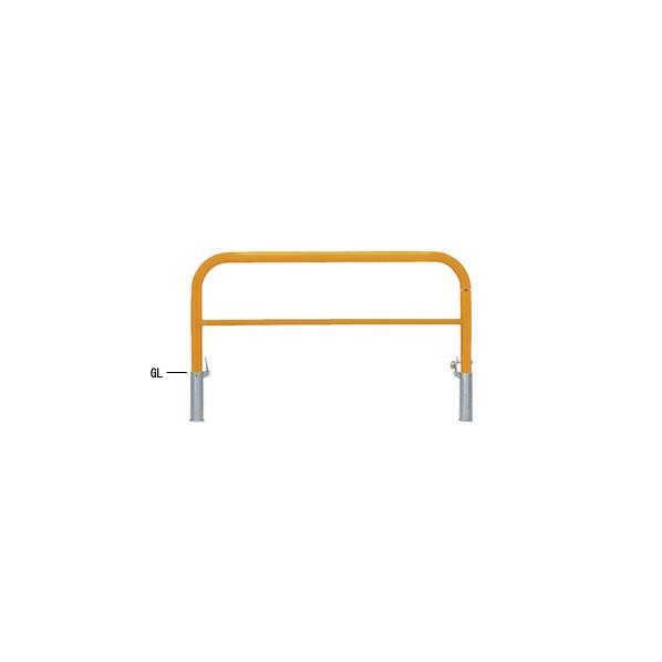 帝金バリカー 帝金バリカー 横型 φ60.5 スチール製 脱着式鍵付 横桟付 黄色 φ60.5 W150 H65 82PK3-15 1本