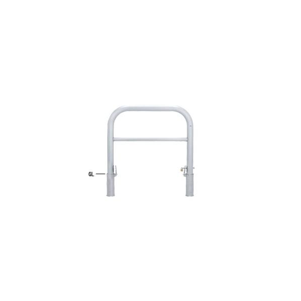 帝金バリカー 帝金バリカー 横型 φ76.3 ステンレス製 脱着式鍵付 横桟付 φ76.3 W100 H80 SY83PK3-10 1本