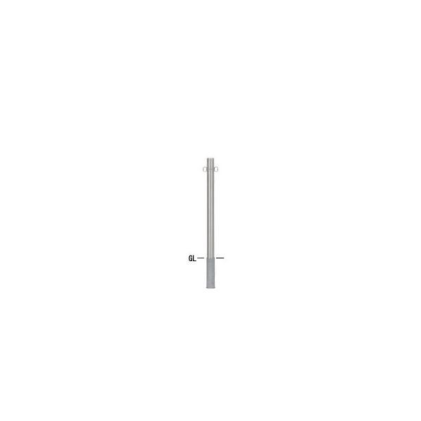 帝金バリカー 帝金バリカー ピラー型 φ60.5 ステンレス製 脱着式 フックナシ φ60.5×H85 S52-Cフックナシ 1組