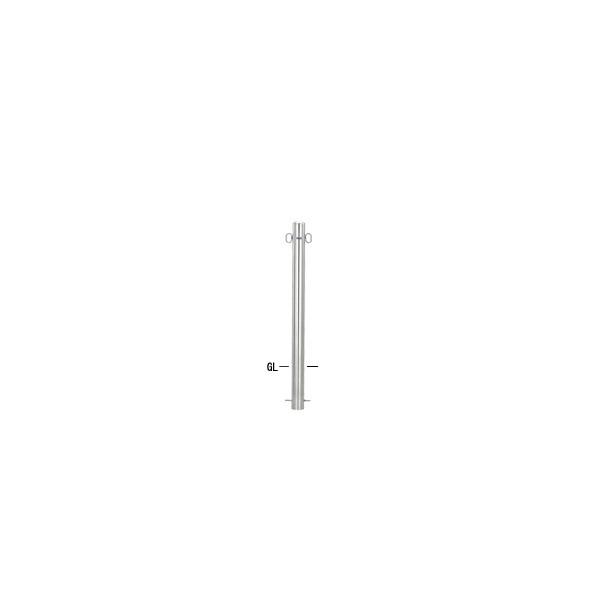 帝金バリカー 帝金バリカー ピラー型 φ76.3 ステンレス製 固定式 フックナシ φ76.3×H85 S53-Aフックナシ 1本
