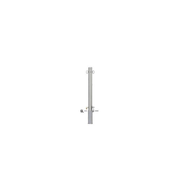 帝金バリカー 帝金バリカー ピラー型 φ76.3 ステンレス製 脱着式鍵付 両フック φ76.3×H85 S53-PK両フック 1組