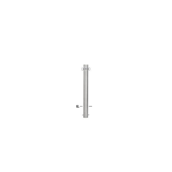 帝金バリカー 帝金バリカー ピラー型 φ101.6 ステンレス製 固定式 片フック φ101.6×H85 S54-A片フック 1本