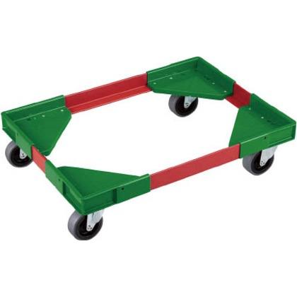 リス アングルキャリーLCB-75用エラストマー車(コーナー緑、アングル赤) ACL-CB75-E-G.R