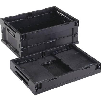 リス 導電性折りたたみコンテナーCB-S31A黒 CBE-S31A-BK