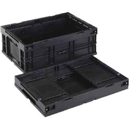 リス 導電性折りたたみコンテナーCB-S55AS黒 CBE-S55AS-BK
