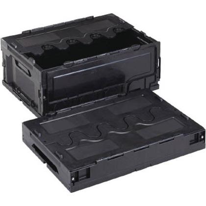 リス 導電性折りたたみコンテナーCF-S31A黒 CFE-S31A-BK